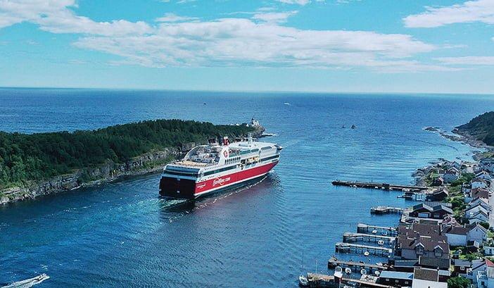 Langesund fjorden Fjordline går fra Grenland Havn