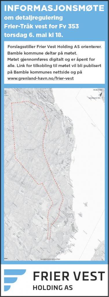 Informasjonsmøte detaljregulering Frier-Tråk vest for Fv353